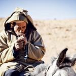 Maroški nomad na oslu.