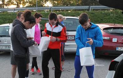 Zadnji tekaški trening tekačev Tečemo skupaj