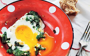 Zdrav zajtrk: Jajčka s špinačo