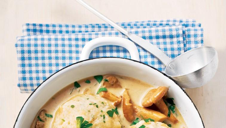 Kruhovi cmoki z gobovim ragujem (foto: foodstock photo)