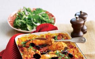 Piščančja paella iz pečice