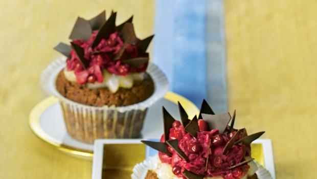 Čokoladni mafini z brusnicami (foto: foodstock photo)
