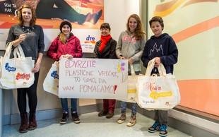 Osnovnošolci iz Škofje Loke ozaveščajo o škodljivosti plastičnih vrečk