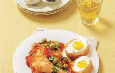 Pollo alla Marengo: Nežno piščančje meso z olivami in paradižniki