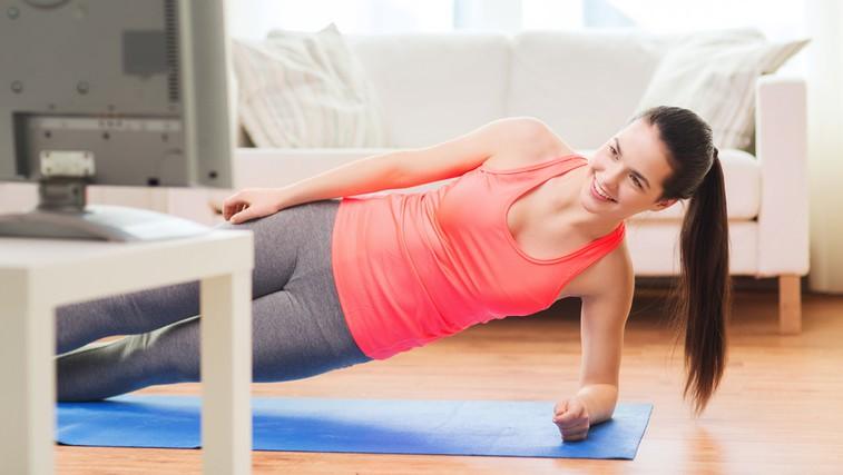 Trening, ki ga lahko naredite med gledanjem televizije (foto: Shutterstock.com)