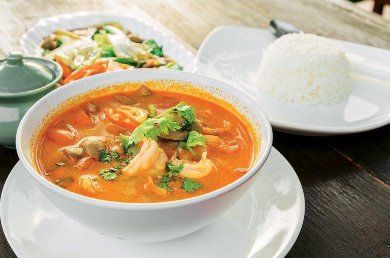 kislo-pekoča juha, kozice