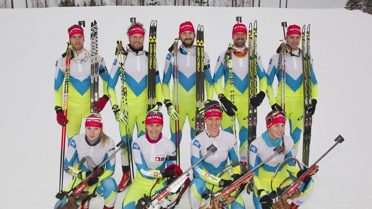 Slovenski biatlonci (foto: SUUNTO)