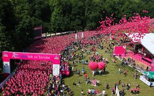 Foto: Ob 10. dm teku za ženske je Ljubljana zaživela v rožnati barvi