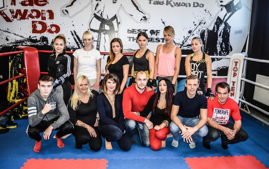 Miss borilnih veščin 2015 - z Dejanom Zavcem in Klemnom Bunderlo (foto: Osebni arhiv)