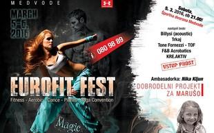 Eurofit Fest – mednarodni festival gibanja z dobrodelno prireditvijo za Marušo!