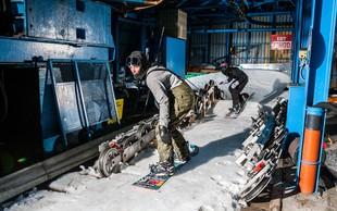 Kaj se zgodi, ko se ekipa deskarjev na snegu odloči prebuditi speče smučišče nad dolino Soče?