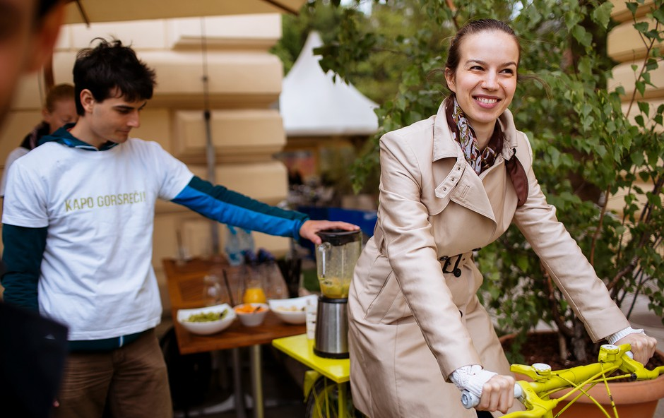 Kolesarji v službo tudi letos vozijo srečo (foto: Anže Godec)
