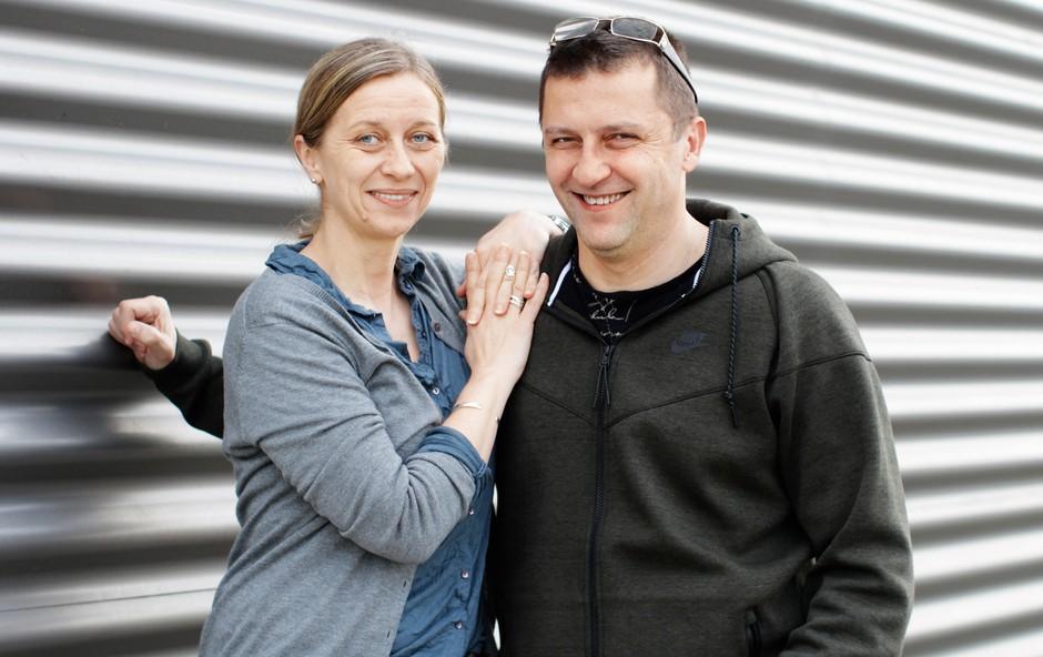 Renate in Samo Rugelj: »Druženje z otroki, kakovosten čas z možem, zato imam rada tek v naravi!« (foto: Goran Antley)