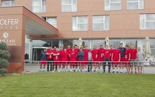 Hrvaška rokometna reprezentanca na pripravah v Medžimurju
