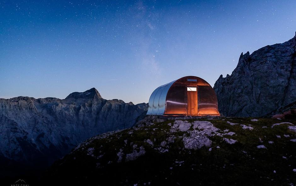 Nov bivak v osrčju Julijskih Alp (foto: Anže Čokl)