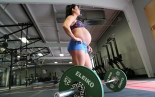 VIDEO: V devetem mesecu nosečnosti je tako trenirala