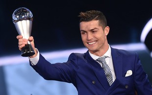 Cristiano Ronaldo igralec leta 2016 po izboru Fife