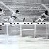 Janez Penca (drugi z leve) med nastopom v teku na 110 metrov z ovirami na jugoslovanskem državnem prvenstvu v atletiki sredi 70. let.