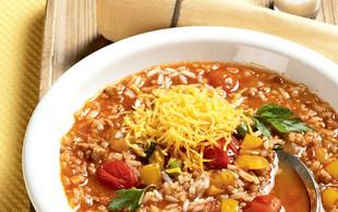 Ideja za kosilo ali večerjo: Riževa juha z mletim mesom