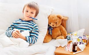 Prepoznajte znake: Ima otrok gripo ali prehlad?