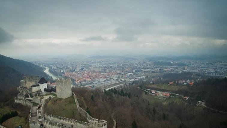 Celjski grad in mesto Celje  (foto: Anže Malovrh/STA)
