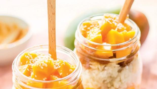 RECEPT: Mlečni riž z mangom in datljevo karamelo (foto: Osebni arhiv)