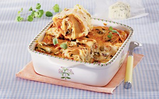 Ideja za kosilo ali večerjo: Pečene palačinke s sirom