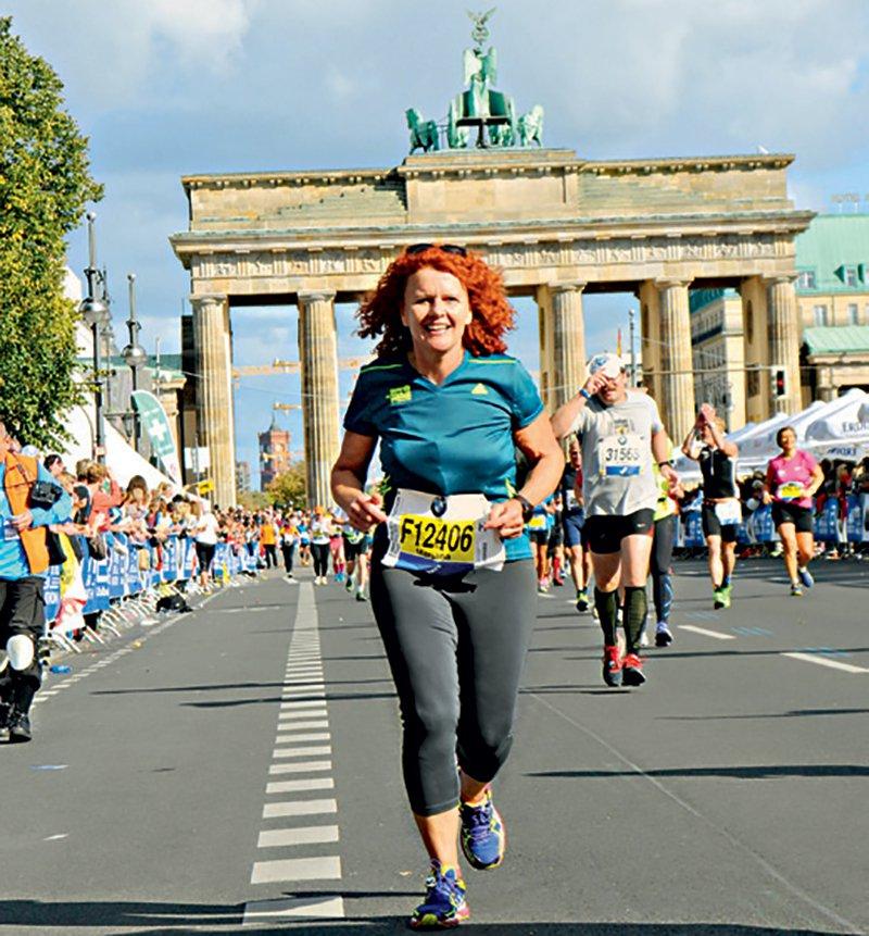 Mag. Marjana Žnidaršič na maratonu v Berlinu