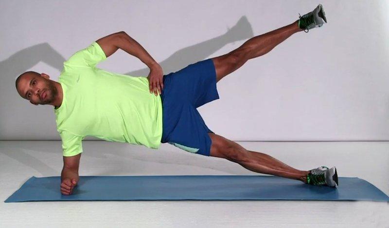 Vaja za tekače: stranska deska z dviganjem noge