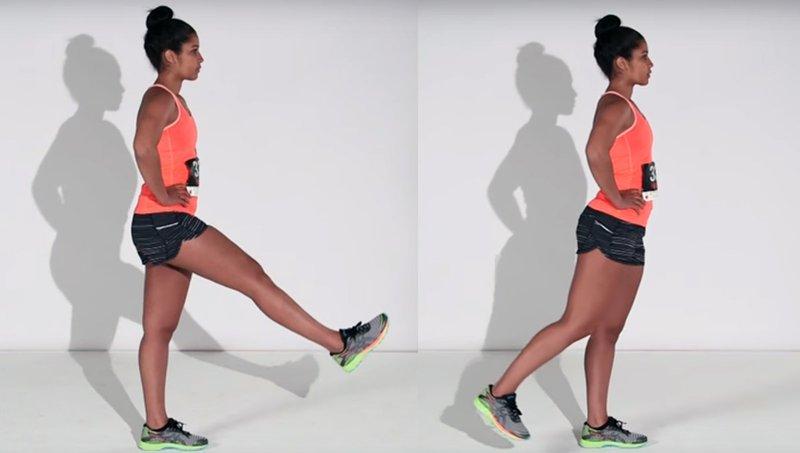 Vaja za tekače: Nihanje z nogo