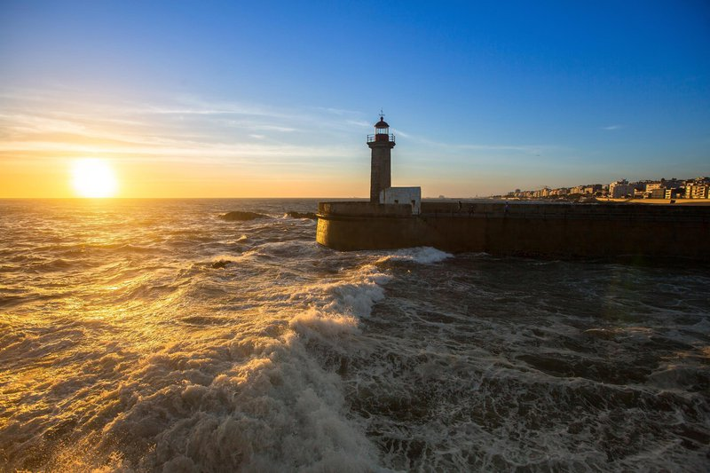 Porto, Portugalska, svetilnik