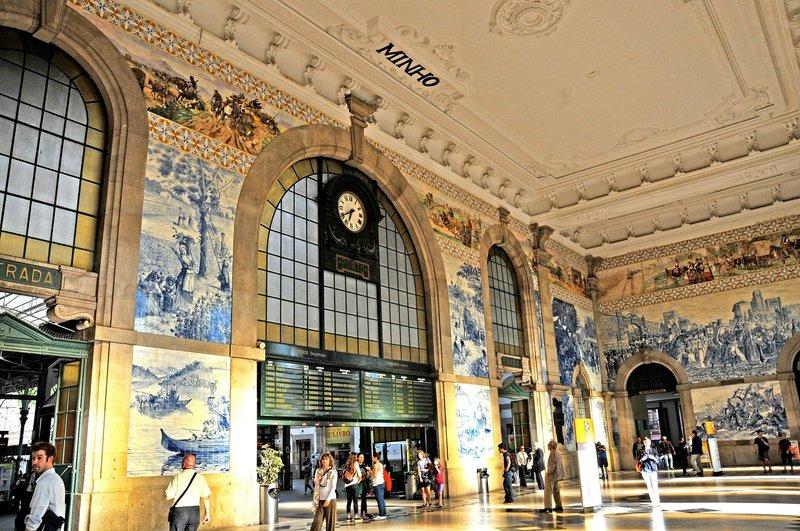 Sao bento železniška postaja, Porto, Portugalska
