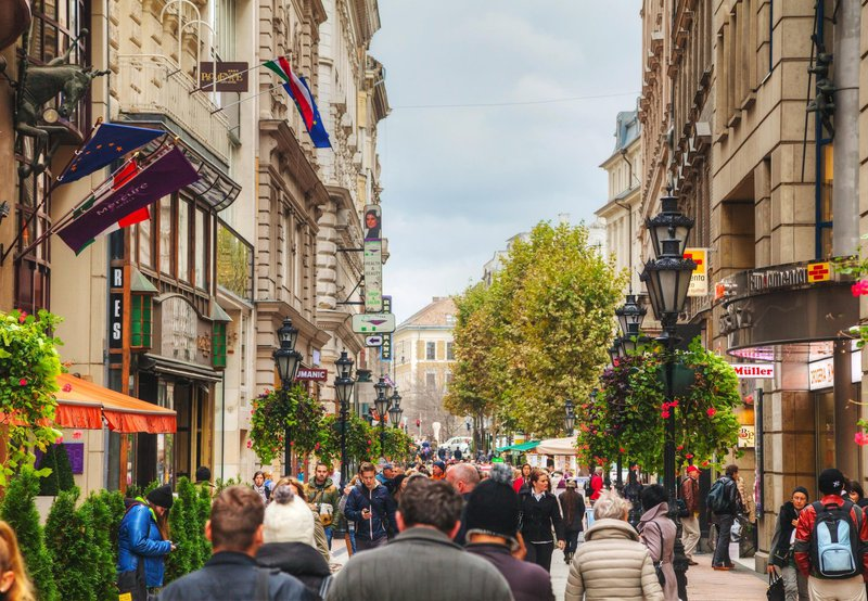 Vaci ucta, Budimpešta, Madžarska