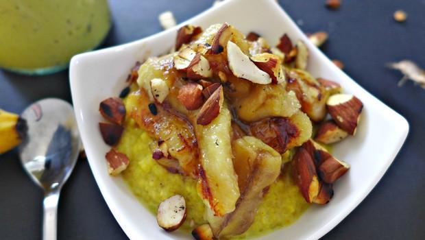 Zdrav zajtrk ali malica: Prosena kaša s pečeno banano (foto: Jasmina Hrastovec)