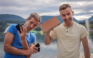 Matej in Jaka: Koliba - kontejner pub, kjer bodo pametni telefoni v času obiska zaklenjeni