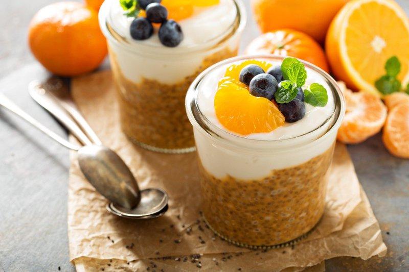 Puding s chia semeni in pomarančo