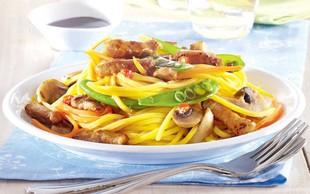 Pikantni špageti z gobami ...