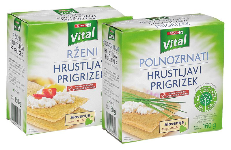 Hrustljave žitne ploščice Spar Vital