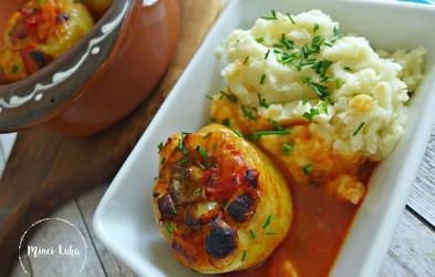 Recept: Veganske polnjene paprike