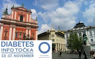 Odkrijmo pasti diabetesa: Ustavite se na info točki na Prešernovem trgu in se testirajte