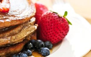Olimpijski zajtrk: Proteinske čokoladne ajdove palačinke