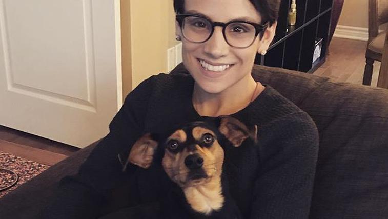 Kanadska drsalka rešila psička iz farme za meso (foto: Instagram)