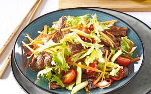 Tajska solata z govedino