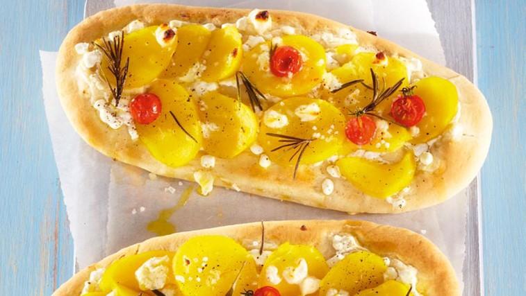 Krompirjeva pica s kozjim sirom (foto: Profimedia)