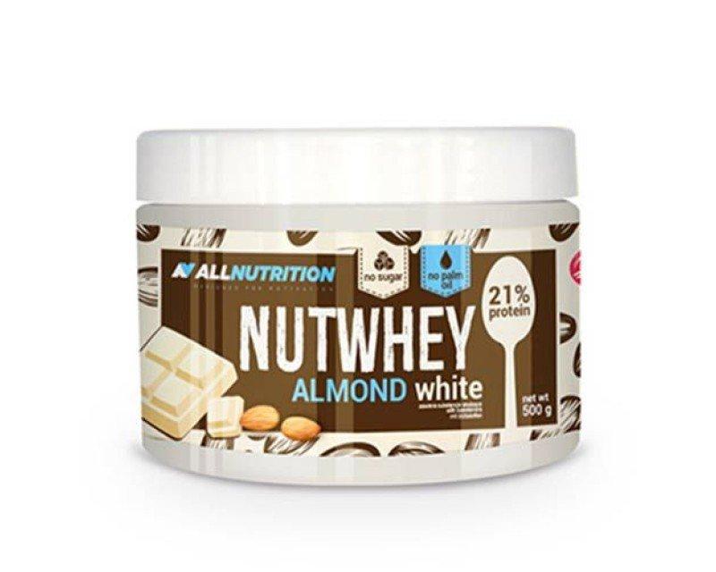 mandljevo maslo z belo čokolado vsebuje 21% beljakovin in je izjemnega okusa
