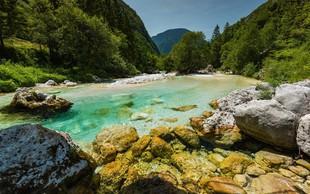 Dogajanje na reki Soči v maju