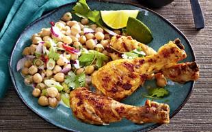 Piščančji tandoori s čičerkino solato