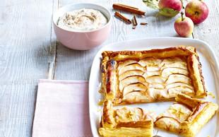 Francoska pita z marcipanom in jabolki