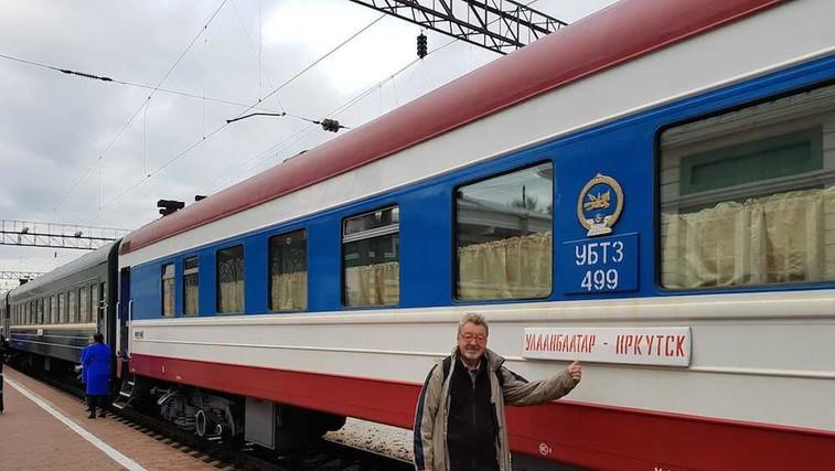 Marijan Petan iz New Swing Quarteta  s Transsibirsko železnico od Moskve do Mongolije! (foto: Osebni arhiv)