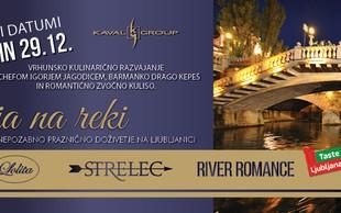 Kulinarična večerja na reki z Igorjem Jagodicem in Mojmirjem Šiftarjem